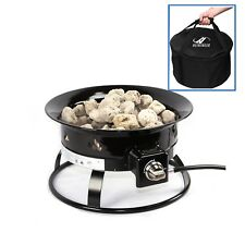 Smokeless Portable Fire Pit for Camping includes Carry Bag 58,000 BTU