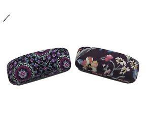Vera Bradley eyeglass case Lot Of 2 Floral Pink Purple