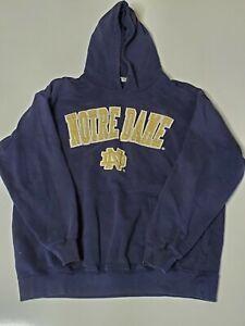 E5 Adult Sweatshirt Pullover Hooded Casual Notre Dame Irish Jacket Size XXL