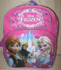 "DISNEY FROZEN ELSA ANNA KRISTOFF OLFA 16"" BACKPACK FRONT&SIDE COMPARTMENTS-NEW!"