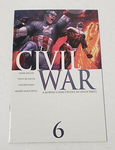 Civil War #6 1st MILLAR MCNIVEN FALCON IRON MAN CAPTAIN AMERICA AVENGERS