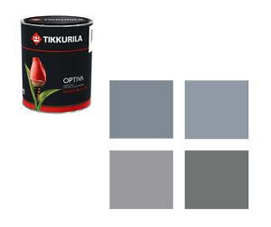 (14,50€/L) Tikkurila Wandfarbe Optiva - 2,75 Liter Farbtöne grau Markenqualität