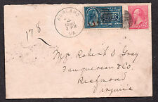 **US Special Delivery Cover, SC# 267+E5, Ashland, VA 6/4/1898, No Contents