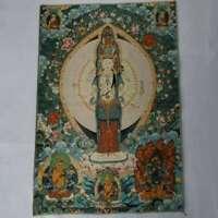 """36"""" Tibet Tibetan Cloth Silk 1000 Arms Avalokiteshvara Kwan-yin Tangka Thangka#2"""