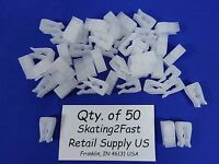 Qty. 50 Molded Inventory Control Clips Clear Wire Grid Peg Hook