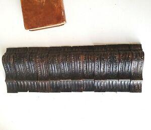 Leaf carving Wood corbel bracket Set of 12 Antique architectural salvage