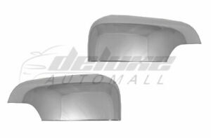 2x Chrome Clip-On Top Half Mirror Covers w/Turn Signal FOR 2019-2021 Ford Ranger
