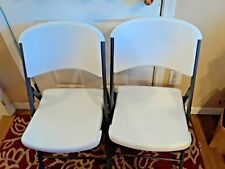 "2 ""LIFETIME"" FOLDING TABLE/LOUNGE CHAIRS"