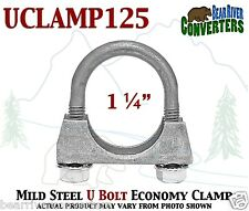 "UCLAMP125 1 1/4"" U BOLT CLAMP 1.25"" Saddle Style 1/4"" Rod Economy Exhaust Clamp"