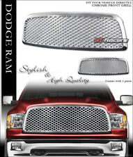 FOR 2009-2012 DODGE RAM 1500 CHROME LUXURY MESH FRONT HOOD BUMPER GRILL GRILLE