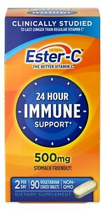 Ester-C 24 Hour Immune Support Vitamin C 500 mg Tablets, 90 ct
