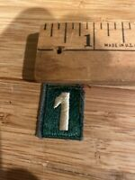 Vintage Number 1 PATCH
