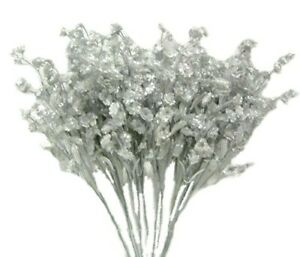 12 Baby's Breath Double Ruffle Artificial Gypsophila Silk Wedding Flowers Faux