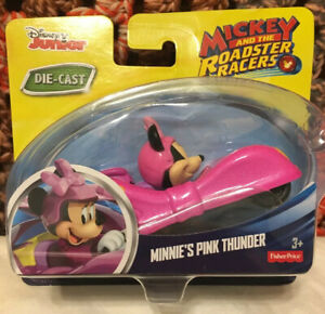 """NEW 2016 Minnie's Pink Thunder 3.5"""" Die-Cast Car Mickey and The Roadster Racers"""