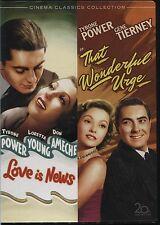 Tyrone Power Double - Love is News / That Wonderful Urge - DVD Region 1
