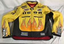 ICON LEATHER JACKET XXXL motorcycle Used Wear