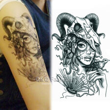 Baphomet Ram Aries Skull Arm Leg Body Art Waterproof Temporary Tattoo Sticker H6
