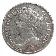 Monnaie 1shilling 1711 Rare Royaume Uni En Argent(A710)
