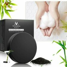 Handmade Activated Charcoal Crystal Soap Blackheads Removal Face Cleaning wash