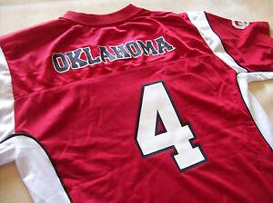 OKLAHOMA SOONERS OU FOOTBALL JERSEY BOYS XXL 18 NEW