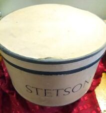 Vintage Stetson Hat Box Oval with Insert to Keep Hat