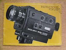 Instructions cine movie camera BOLEX 581 SOUND microzoom CD/Email