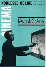 L'AVANT-SCENE CINEMA N° 18 NOBLESSE OBLIGE.