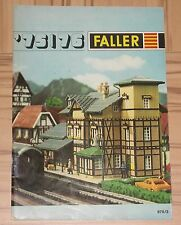 per Faller Modellismo Anno Catalogo 1975/76 3 lingue, engl-franz niederl
