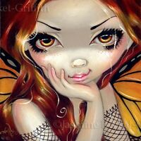 Fairy Face 112 Jasmine Becket-Griffith SIGNED 6x6 PRINT butterfly faery
