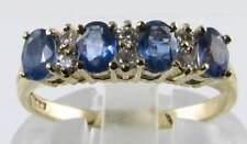 CLAASIC ENGLISH 18K GOLD NARURAL CEYLON SAPPHIRE & DIAMOND RING