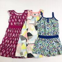 Tea Collection Girls Size 7 LOT Summer Dresses Romper Cotton Multi-Color