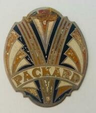 vintage NOS Colson PACKARD bicycle Head badge tag antique plate FLAT