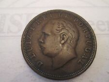 1884 XX REIS! Vintage PORTUGAL coin: copper composition     IS36