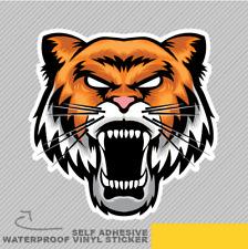 Angry Tiger Cat Danger Africa Head Vinyl Sticker Decal Window Car Van Bike 2202