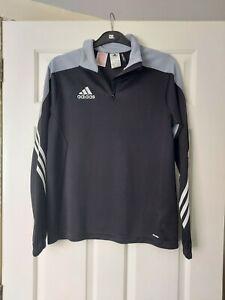 Boys Adidas 1/4 Zip Top Jacket Size YXL