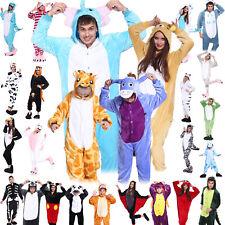 Animal Pyjamas Costume Playsuit Unisex Adult Jumpsuit Fancy Dress Sleepwear Cute