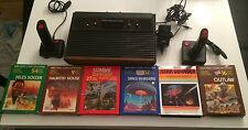 Atari 2600 als 4-Schalter mit Holzoptik  + 6 Spiele