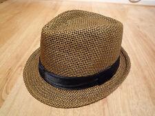 Sombrero De Hombre Marrón Vacaciones Casual vestido elegante inteligente trajes de estilo clásico