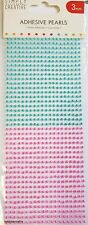 TRIMCRAFT SIMPLY CREATIVE 3MM PINK & BLUE ADHESIVE PEARLS - 800 GEMS PER PACK