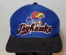 Vintage 1990s KANSAS JAYHAWKS Snapback Hat Cap KU BASKETBALL Paul Pierce Era