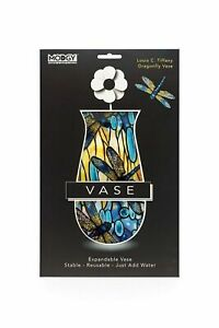 Translucent Vase Colorful Dragonfly Plastic Material Unique Design Centerpiece