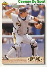 113 MIKE LAVALLIERE PITTSBURGH PIRATES BASEBALL CARD UPPER DECK 1992