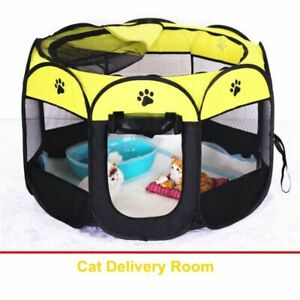 Cat Cage Octagon Fence Dog Corral De Perros Portable Kennel Foldable Washable