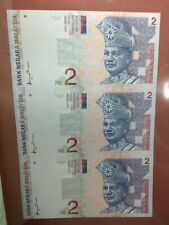 Malaysia RM2 x3 pcs (3 in 1) Uncut Banknotes, 1996, Replacement ZA (UNC folder)