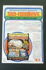 RARE Vtg 1976 DEALER Ad - Sea Monkeys Transcience Hobby Kit 800