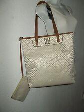 Hilfiger Logo Tote & matching cosmetic bag NWT of $99