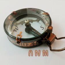 Marine Brass Compass Spencer & Co Nautical Vintage Collectible Decor