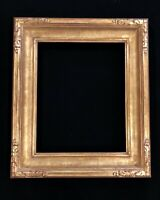 "4"" Wide 16 "" x 20"" Solid Wood Hand Carved Picture Frame, Gilded in 22K Gold Leaf"