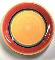 Royal Norfolk MAMBO 10.5 Dinner Plates - set of 4 - yellow red green blue