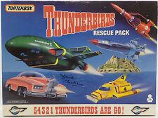 THUNDERBIRDS : THUNDERBIRDS 1,2,3,4 & FAB 1 SET SIGNED BY DAVID GRAHAM